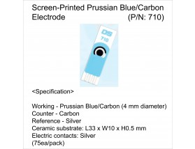 Screen-Printed Prussian Blue/Carbon Electrode