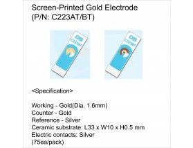 Screen-Printed Gold Electrode(W Dia. 1.6mm)